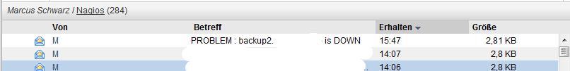 problem: backup2 is down
